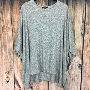 Forever 21 Gray Over Sized Sweater 3/4 Sleeve Lg.